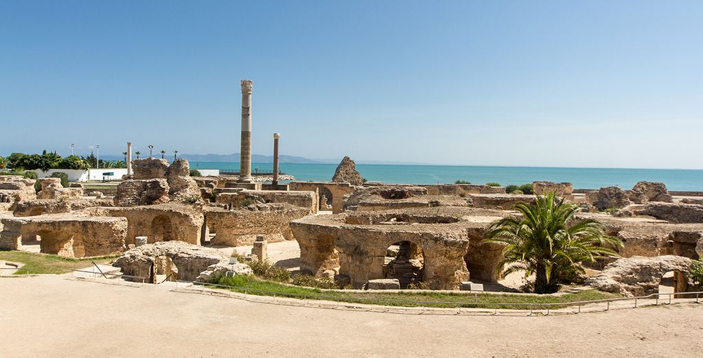 Photographie du site antique de Carthage à Monastir en Tunisie