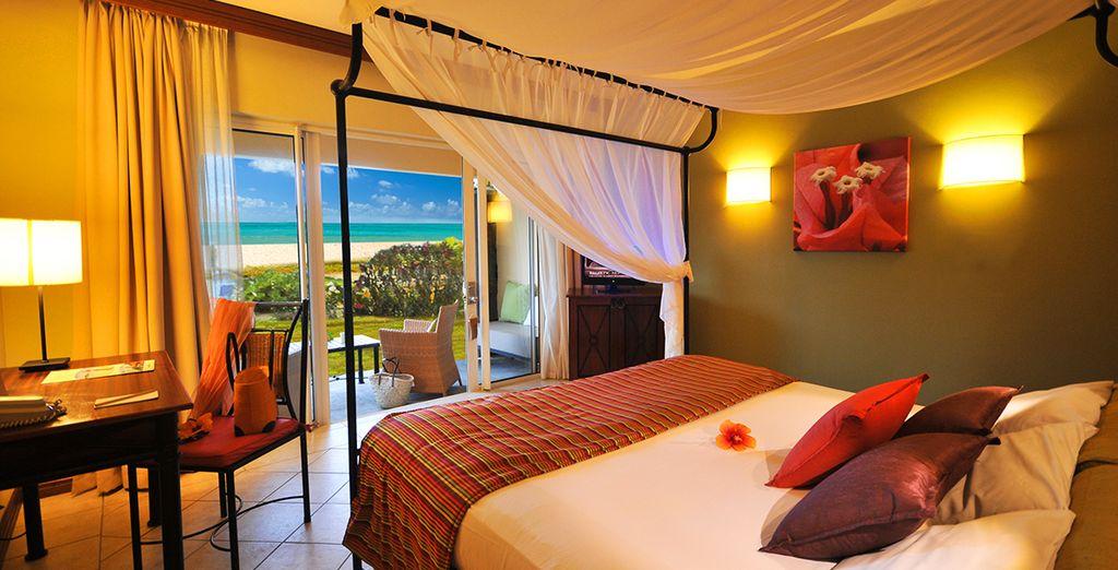 Votre chambre Lagoon cosy à la décoration contemporaine...