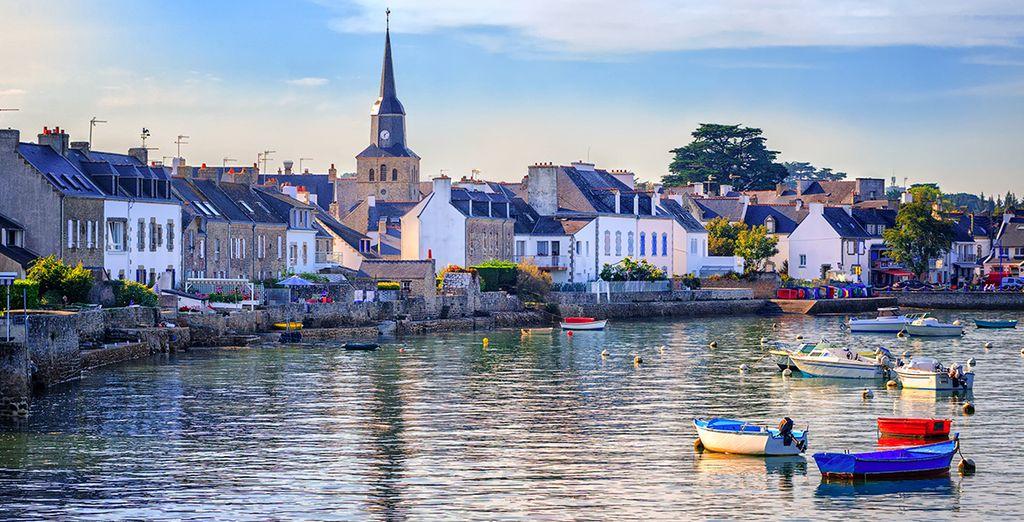 Au cœur du golfe du Morbihan en Bretagne...