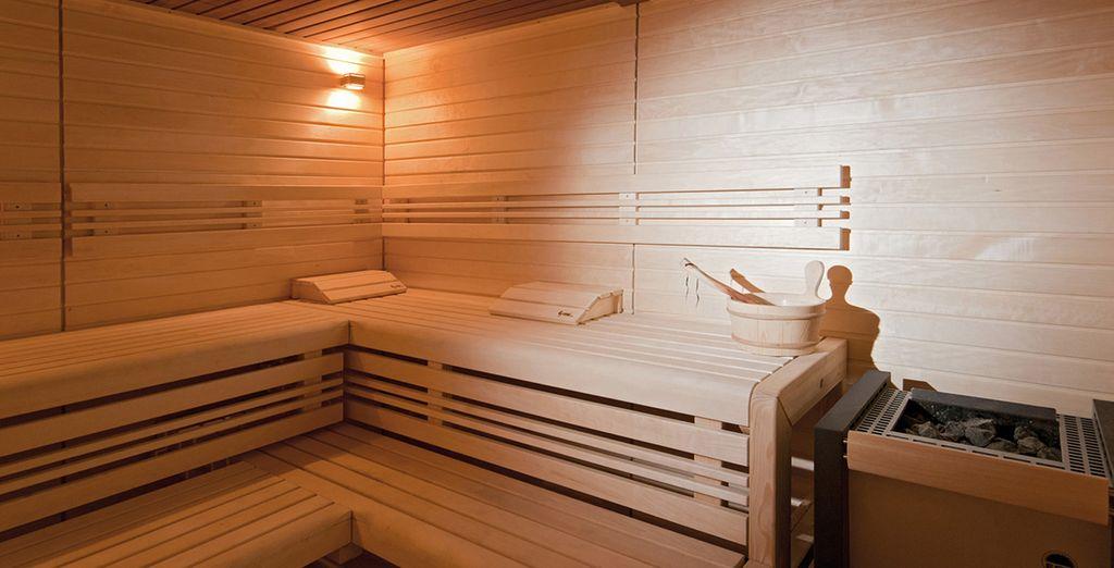 Accordez-vous quelques minutes dans le sauna