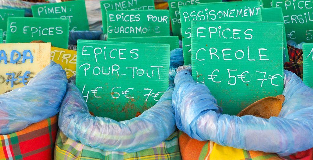 Pour découvrir le marché de St Anne