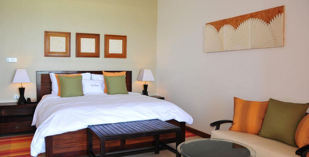 Au programme : confort et détente en chambre Ocean View
