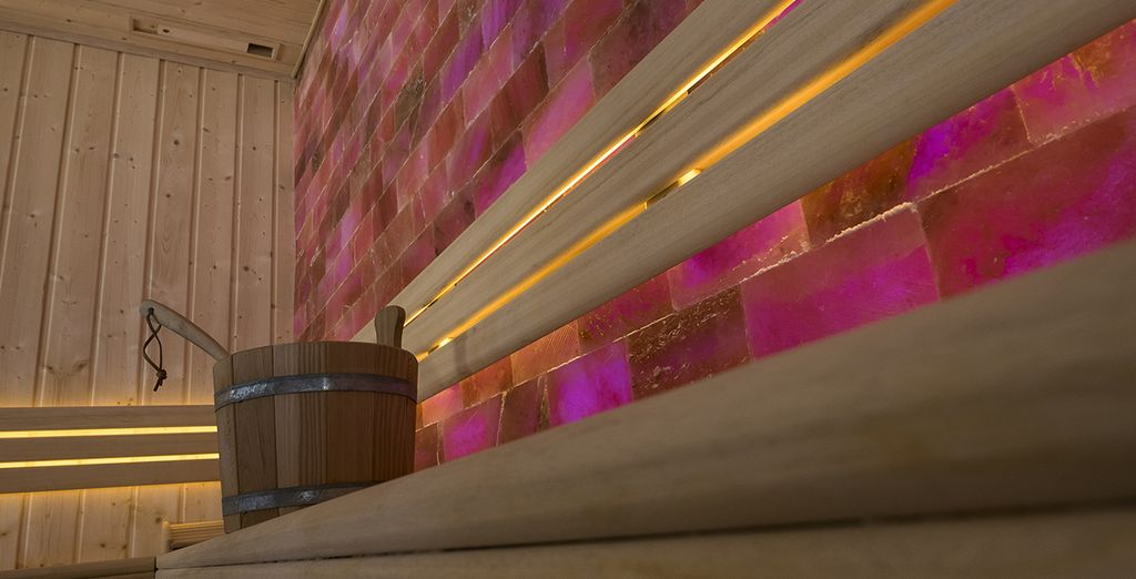Ou encore au sauna, idéal pour détendre vos muscles