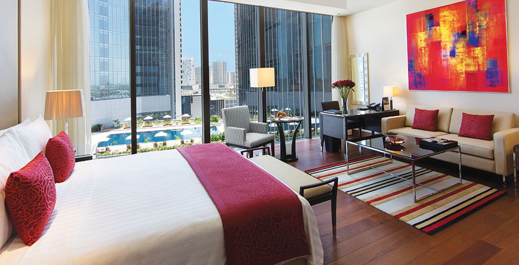 Vous serez surclassé en chambre Luxury Pool View