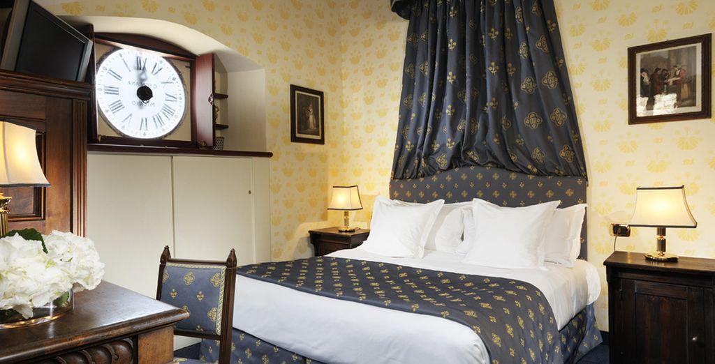 Installez-vous dans une des confortables chambres du château