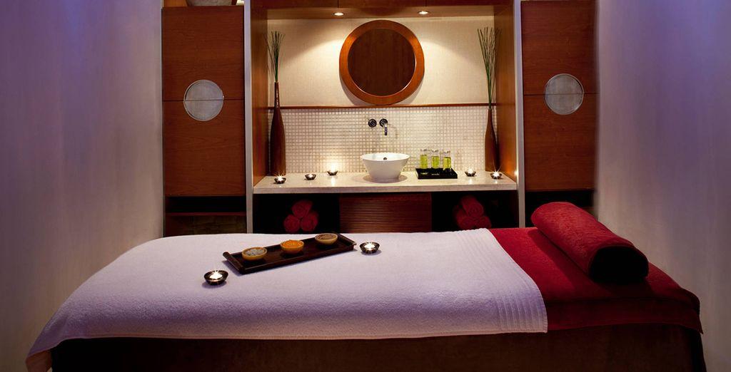 Aux massages et soins délassants...
