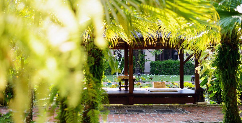 Place ensuite à la détente dans les jardins...