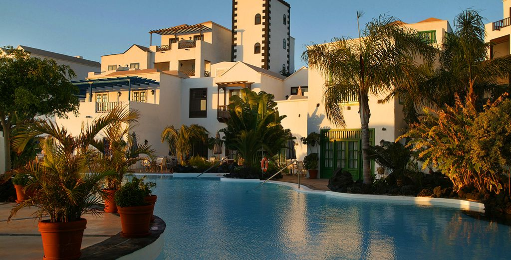 À l'hôtel Volcan Lanzarote...