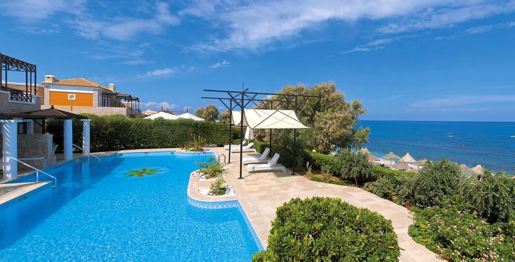Bienvenue en Crète dans un véritable petit écrin de verdure...