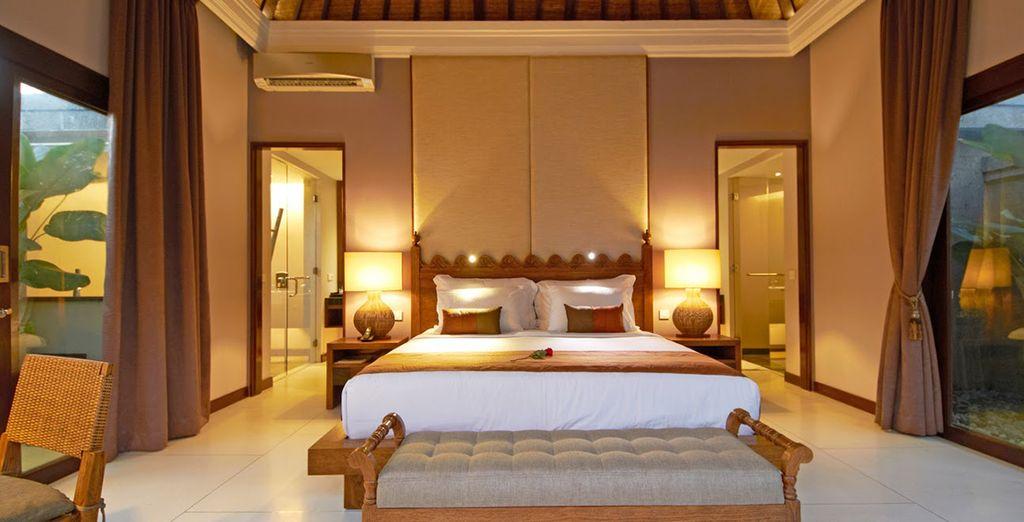 Posez-vos valises en chambre One Bedroom Pool Villa