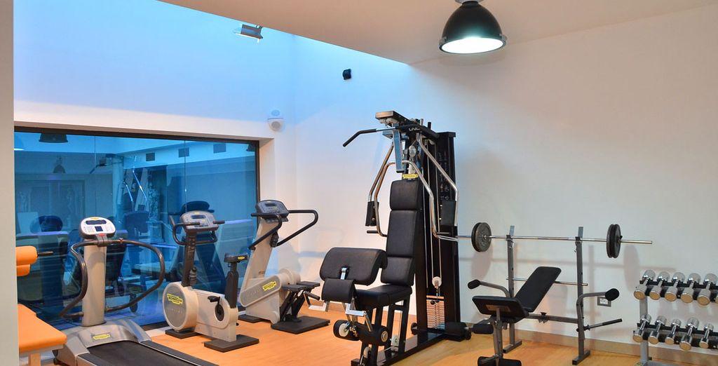 Ou un peu d'exercice dans la salle de fitness
