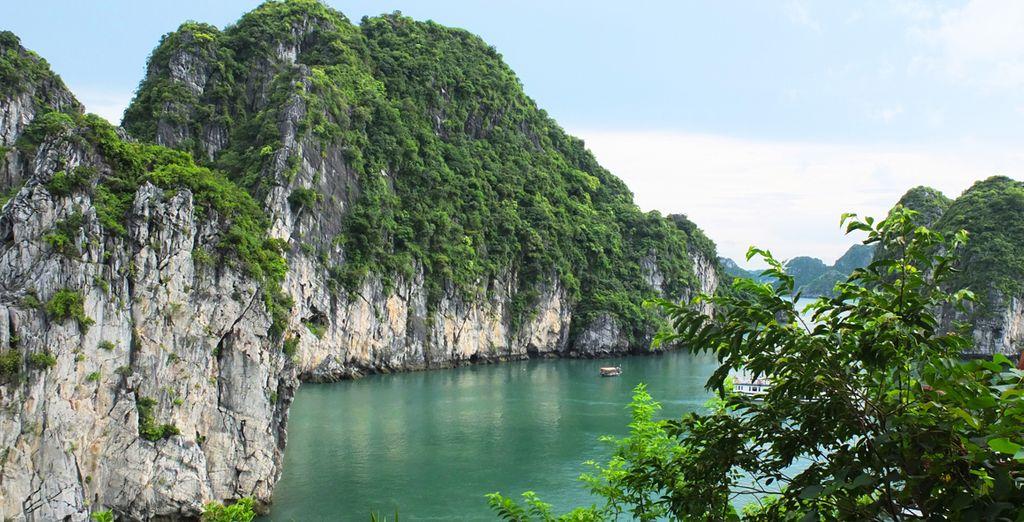 Et dans l'incroyable Baie d'Halong