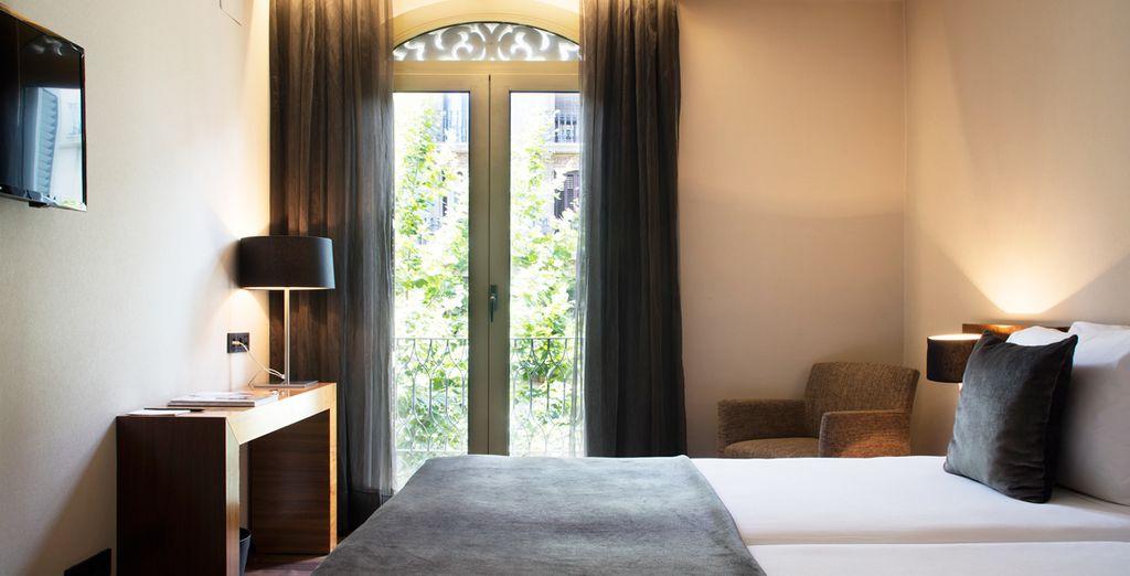 Vous séjournerez dans une chambre des plus confortables