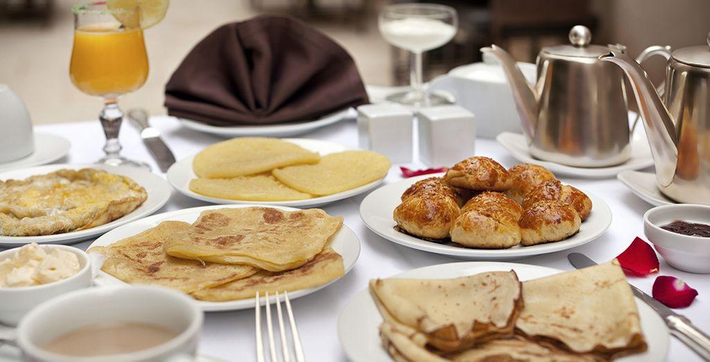 Appréciez un petit déjeuner copieux chaque matin