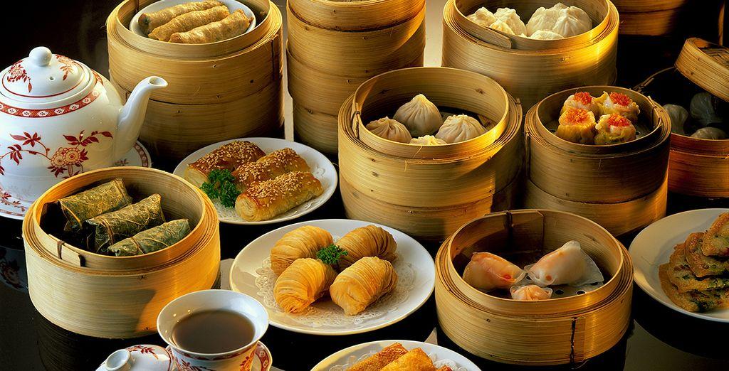 Photographie de spécialités gastronomique et plats chinois à découvrir lors de ses vacances