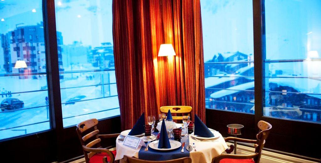 Avant d'aller savourer la cuisine du restaurant, tout en profitant d'une vue sublime