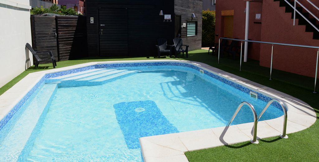 Et de la piscine pour vous accorder des petits moments de détente !