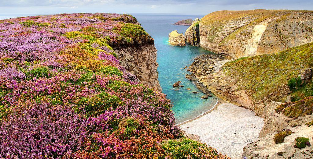 Paysages de Bretagne et côtes rocheuses