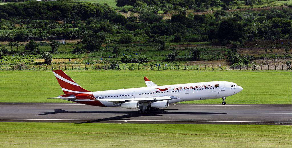 Choisissez de vous envoler à bord d'un appareil Air Mauritius...