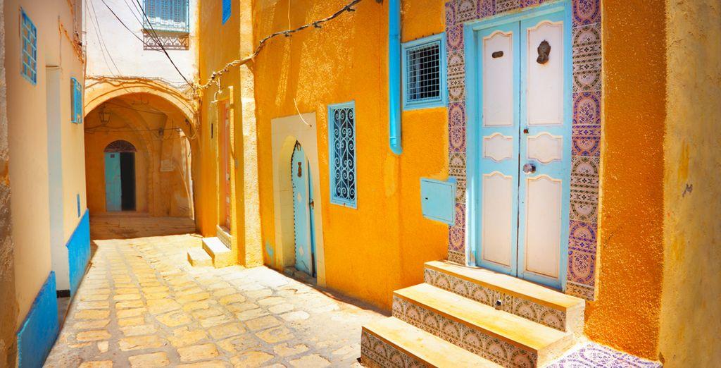 Ou flânez dans les rues tunisiennes