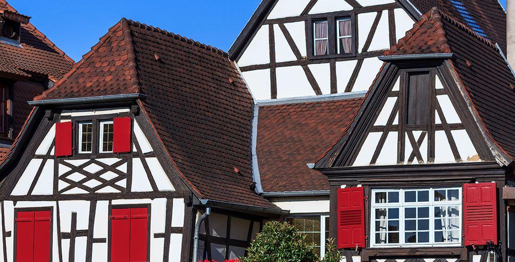 Découvrez enfin les fameuses maisons à colombages, typiques de la région !