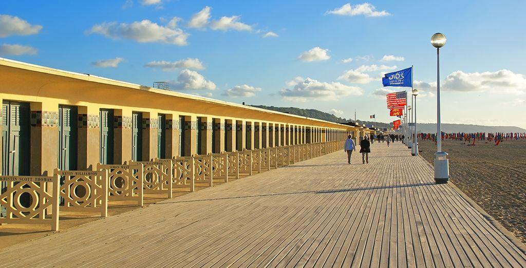 Villes balnéaires de renom telles Deauville et de ses plages mythiques