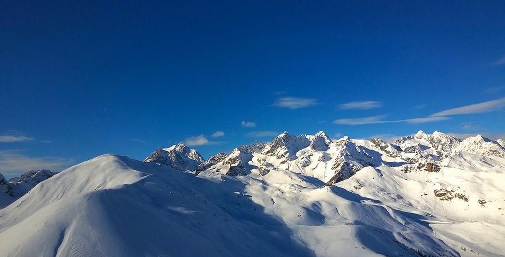 Dévalez les pistes de ce superbe domaine skiable