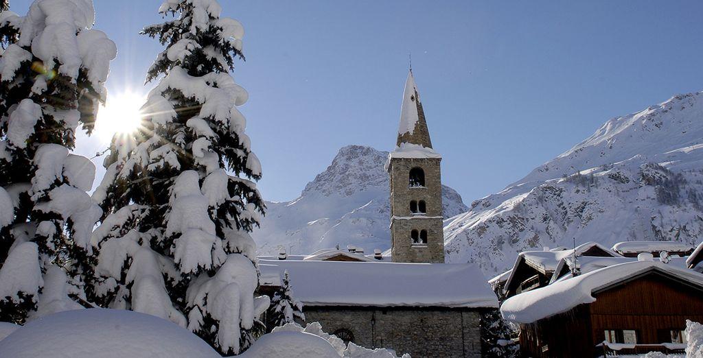 Dans la station authentique de Val d'Isère