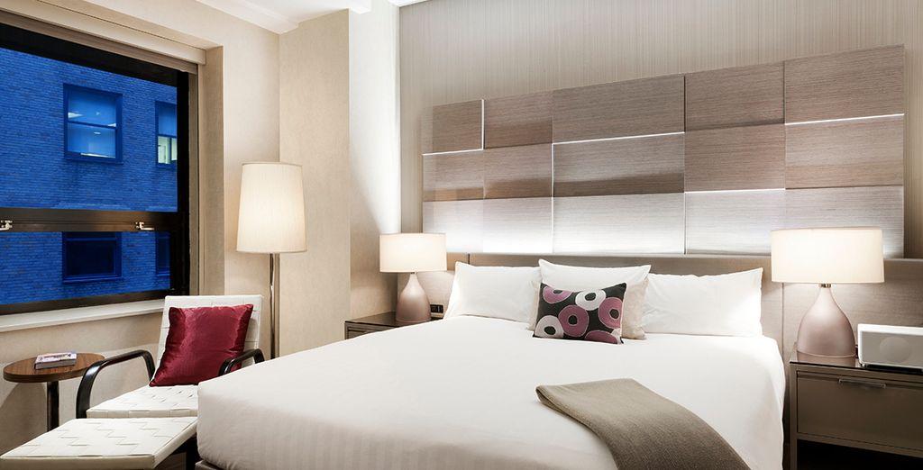 Installez-vous dans votre chambre et profitez des lieux...