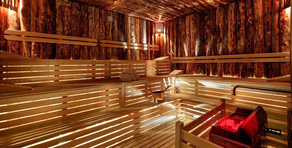 Et un confortable sauna