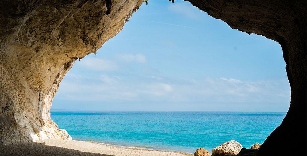 La plage de Cala Luna