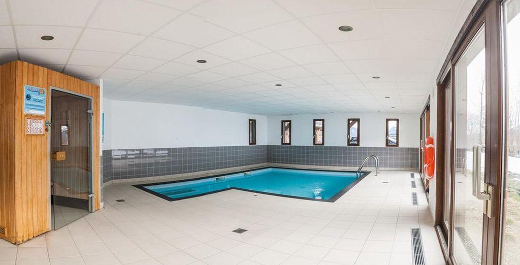 Mention spéciale également pour la piscine chauffée...
