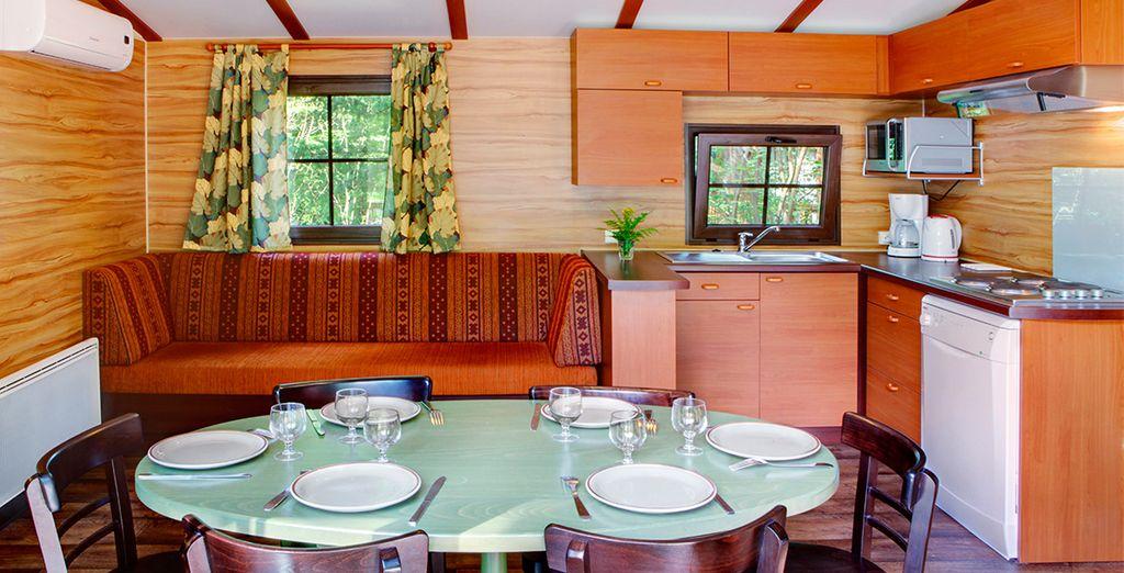 Séjournez dans votre bungalow privé, tout équipé