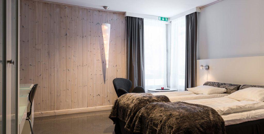 Vous passerez aussi une nuit en Warm room, à l'ambiance moins glacée