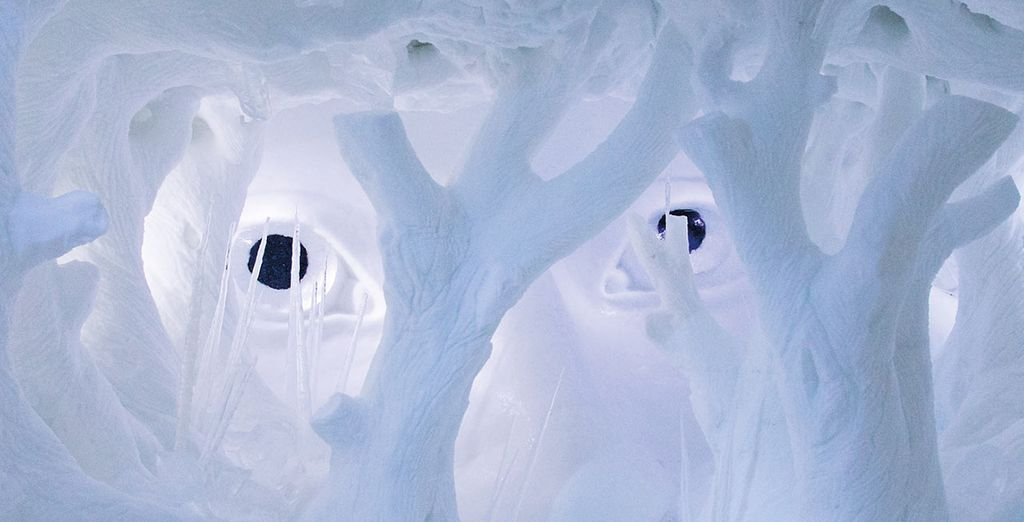 Vous séjournerez dans un hôtel fait de glace