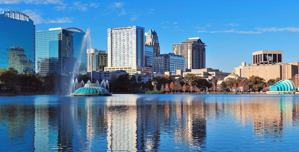 Photographie de la ville d'Orlando et de ses nombreux parcs d'attractions