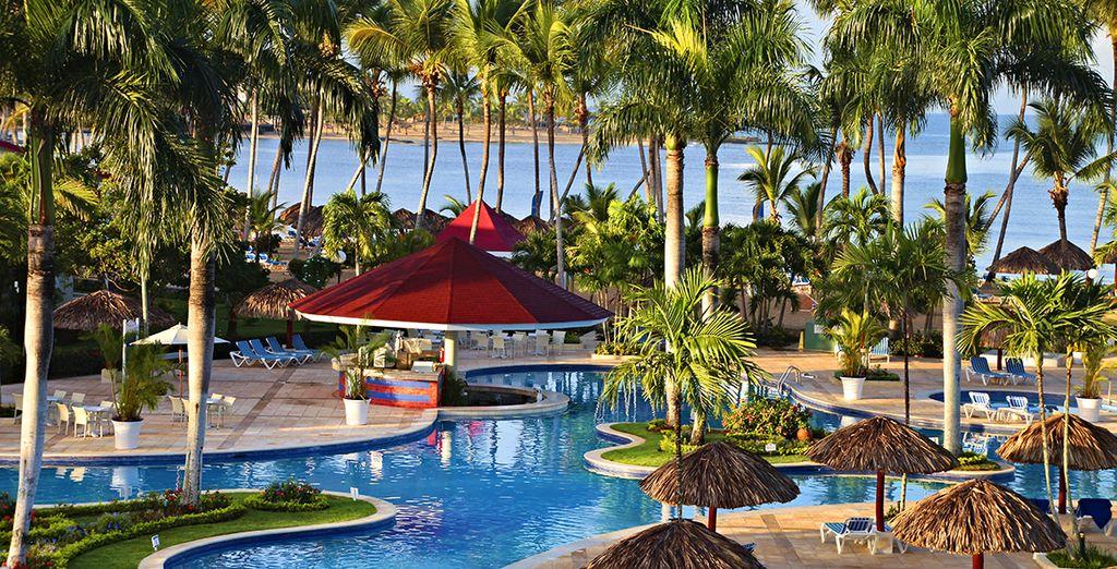 Hôtel de luxe 5 étoiles tout confort à La Romana en République Dominicaine avec piscine et espace détente