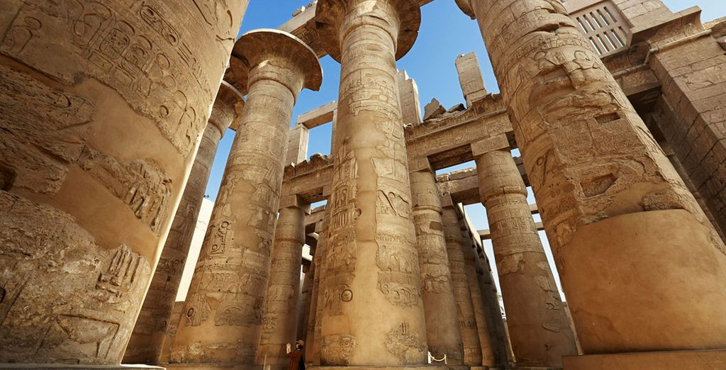 Pilliers du temple de Karnac en Egypte