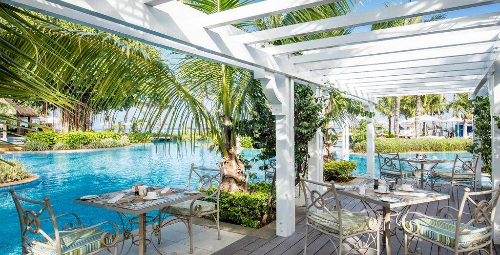 Hôtel de charme entre piscine et restaurant gastronomique