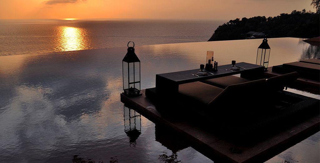 Avant de la terminer face à un magnifique coucher de soleil...