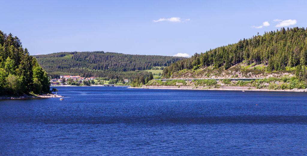 Photographie du lac de Titisee en Allemagne dans la région de la Forêt Noire