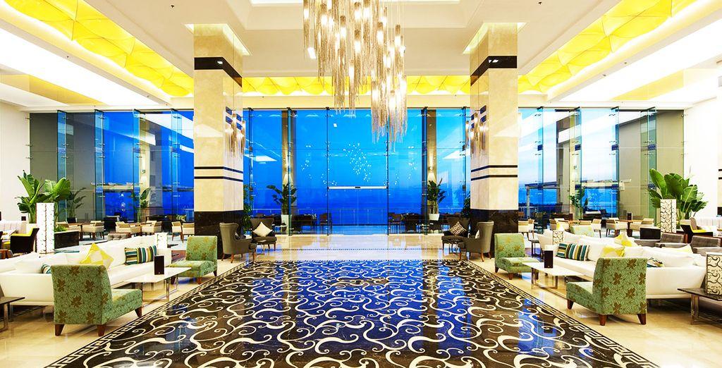 C'est dans ce superbe hôtel Hilton que vous résiderez !