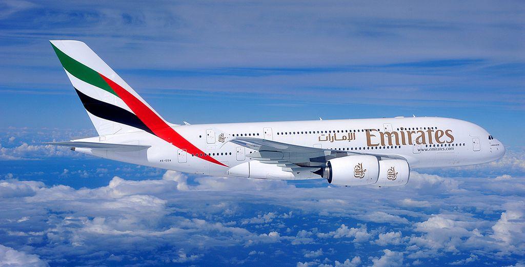 Vous pourrez choisir en option de voyager avec la compagnie Emirates