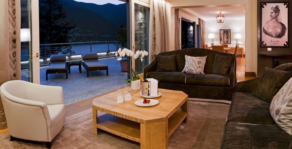 Ou bien avec la Suite Villa Vue sur le Lac