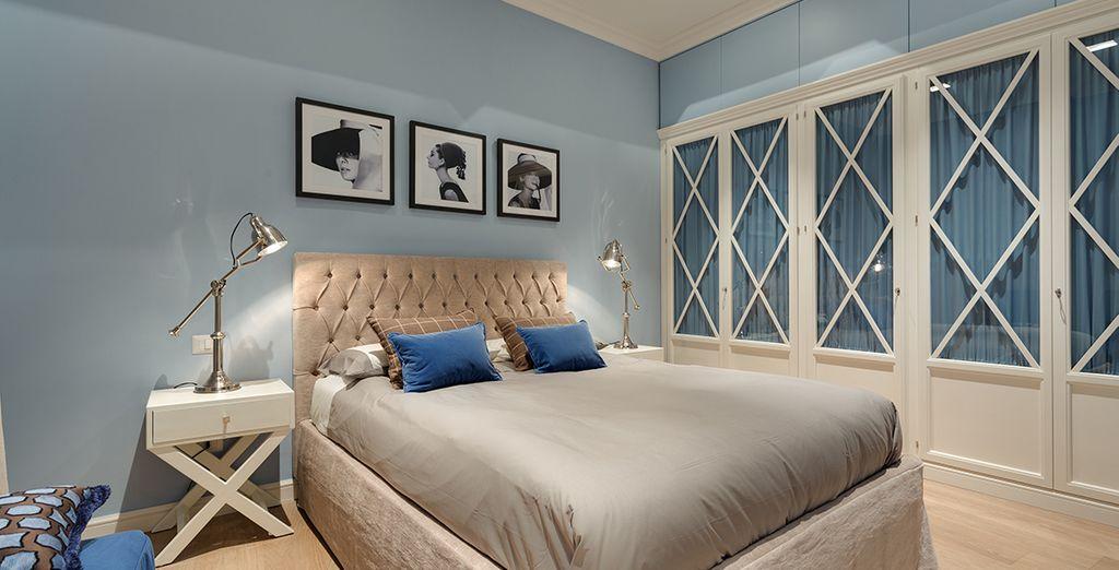 Une chambre design et spacieuse rien que pour vous !
