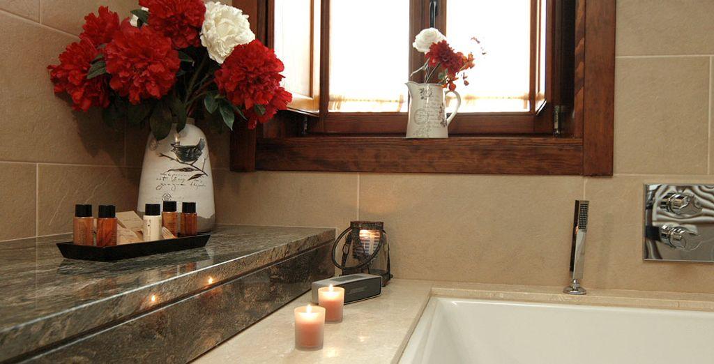 Où vous profiterez d'un bon bain après une journée à visiter les environs