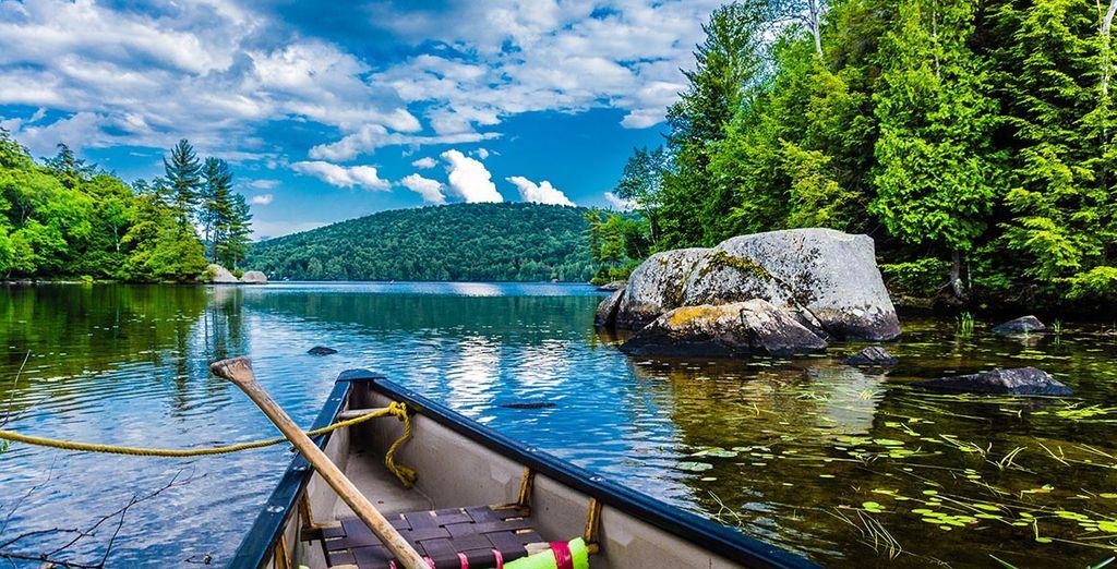 Paysages et montagnes verdoyante du Québec