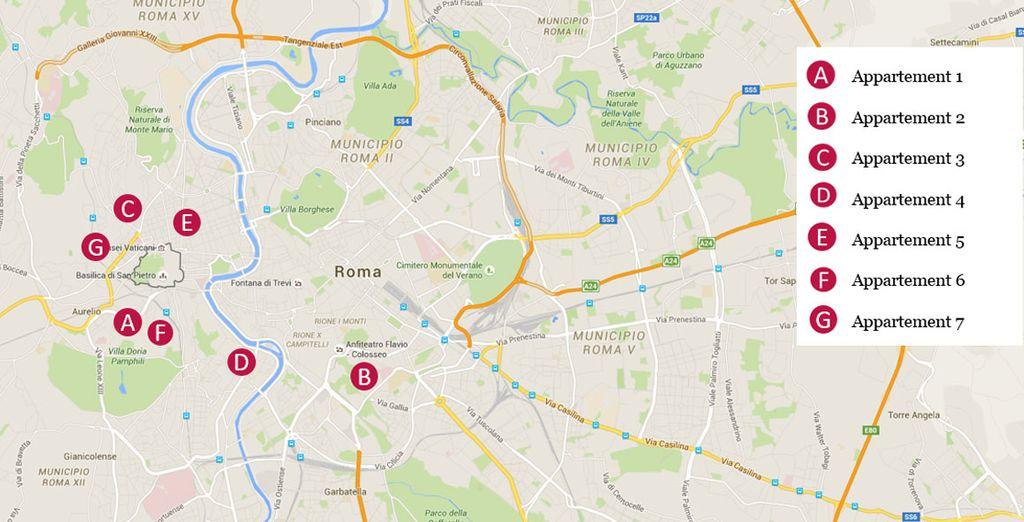 Des appartements dans le centre de Rome