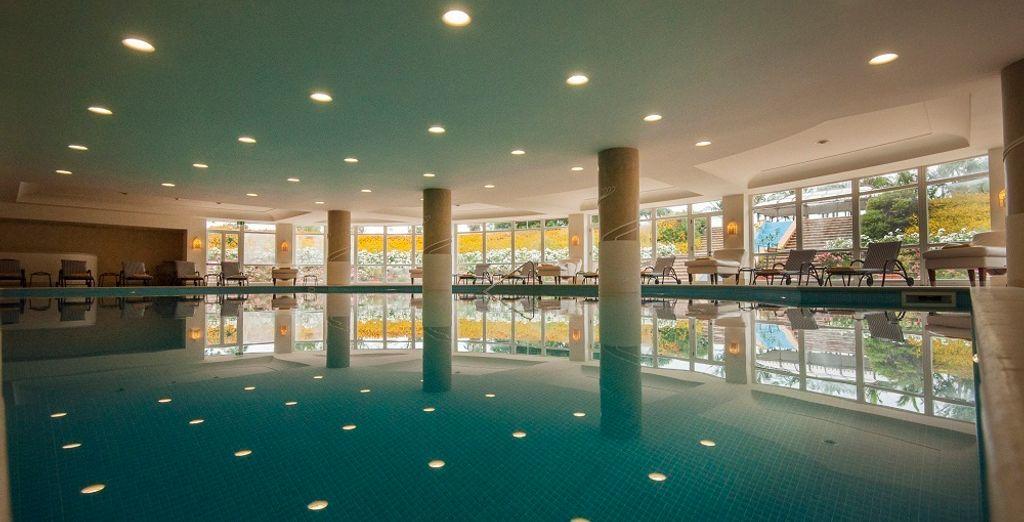 Puis offrez-vous un moment de pure détente au spa, près de sa piscine intérieure ou de son sauna
