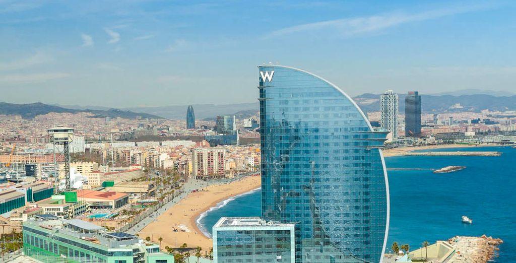 Et survolez les plages de Barcelone